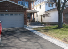 Driveway Trim and Walkway